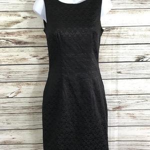 H & M Little Black Dress Scalloped Print Cocktail